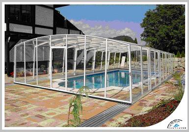 Cubiertas para piscinas telescopicas moviles estructura for Estructuras para piscinas
