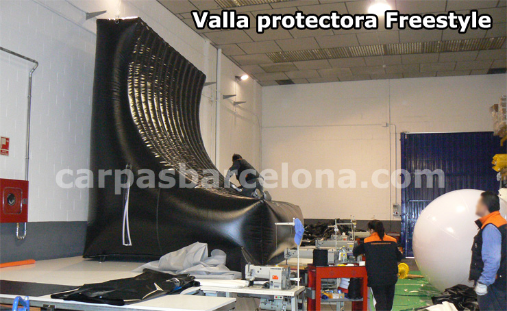 Vallas protectoras Freestyle quita miedos show motos