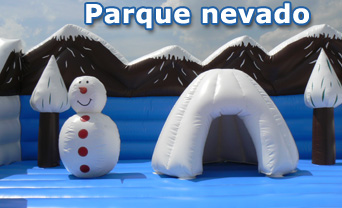 Parque nevado hinchable