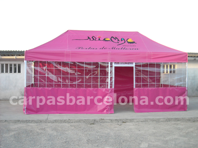 Carpa plegable aluminio 3x6