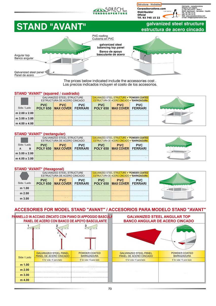 Venta de carpas modulares kioscos chiringuitos stand - Precios de carpas ...